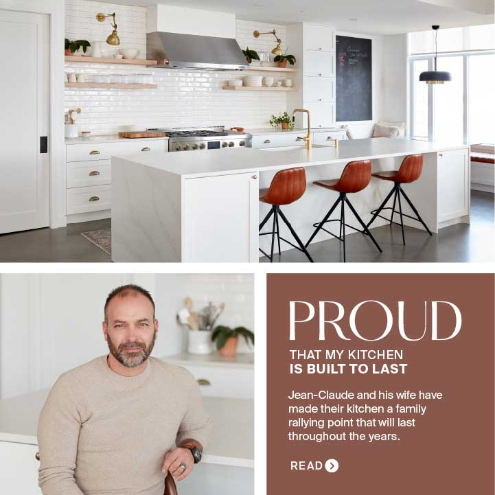Jean-Claude, Proud Owner of a Kitchen Built To Last