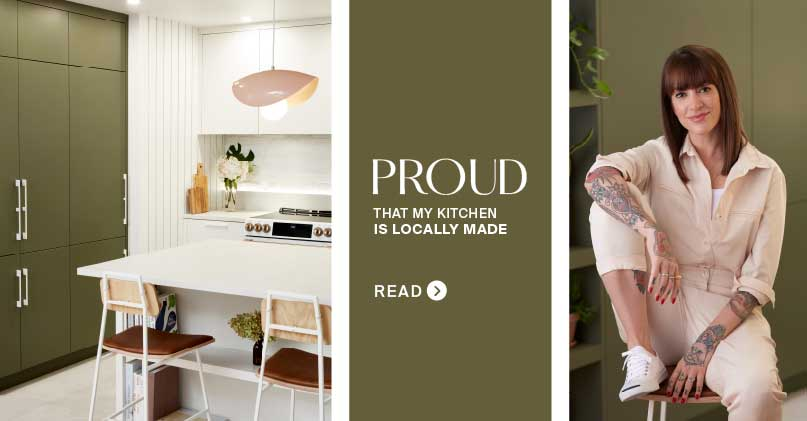 Anicée, Proud Owner of a Locally Built Kitchen