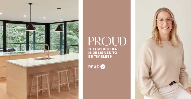 Florence, Proud Owner of a Kitchen Designed To Be Timeless